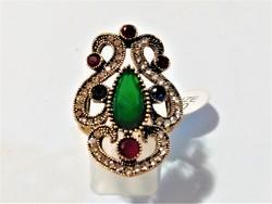 Hürrem gyűrű, színes kövekkel