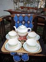 4 személyes hibátlan ritka Gránit teás készlet, nagyon szép!