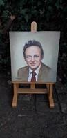 Olaj vászon festmény Portré 1987 Lengyel művész alkotása