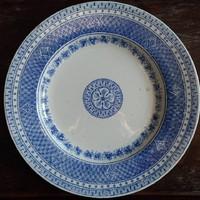 Herendi fajansz tányér szalagos jelzéssel
