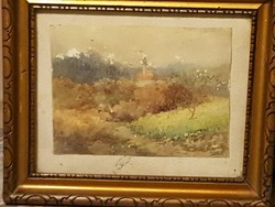 Gerhardt Alajosné ( 1866 - ? ): Templom torony (5)