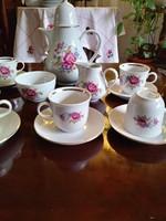 6 személyes gyönyörű porcelán kávés készlet, hibátlan