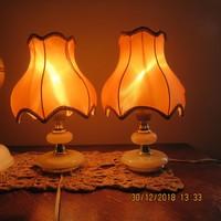 Ónix betétes éjjeli lámpa lámpaburával együtt 28 cm-es