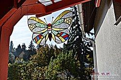 X. Tiffany Pillangó, Ablakkép, Fali kép. Készítő művésztől