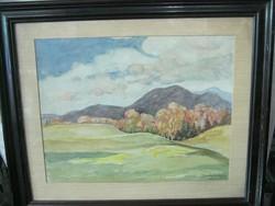 Basch Andor akvarell
