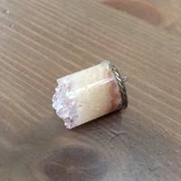 Régi ásvány medál ezüst szerelékkel