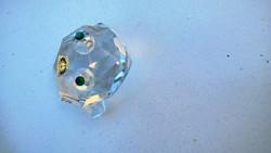Bohemia kristály béka gyűjtőknek, teljesen új, eredeti dobozában