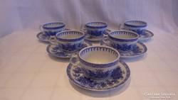 Kék mintás porcelán kávéscsésze készlet Narumi Blue Cathay