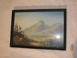 Bócsa István tájképet ábrázoló festménye