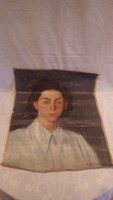 Zórád Géza 1948 női portré olaj-vászon festmény 54x44 cm