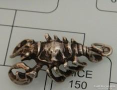 Ezüst skorpió medál - súlyos darab 11gr!