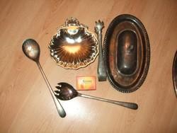 Hét darab ezüst vagy ezüstözőt régi tárgyak