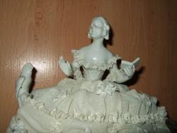 Antik Unterweissbach német porcelán RITKA DARAB !