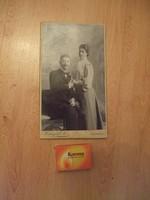 Antik fotó esküvői kartonfotó