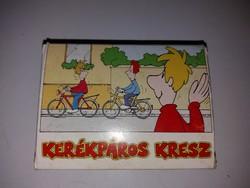 Retró kerékpáros kresz kártya 5-6 osztály