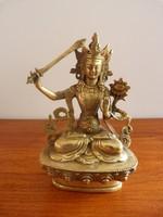 Réz tibeti Manjushri Bodhisattva Buddha