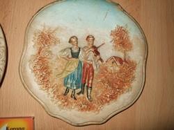 Antik két db fali tányér