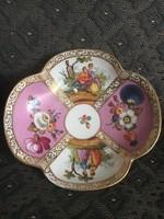 Csodálatos antik Drezdai porcelán tálka - 1843-1883 között.