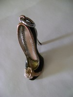 Ezüst vagy  ezüsthatású? női platformos magas sarkú cipő 25 gramm medál