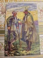 Régi háborús Képeslap, katonai képeslap, A vaskereszt