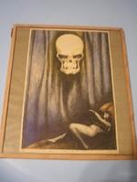 N7 Byssz Róbert 1920 bizarr szerelem és halál alkotása üveglapos ritkasága 2.kép