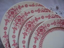 Hüttl/Cauldon: antik Brown, Westhaed, More&Co sütis tányérok gyémántjellel, Hütt behozatali jellel