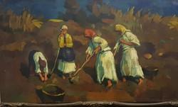 Nagy Oszkar, nagybanyai festoiskola  eredetisegi igazolassal