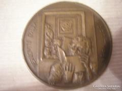 Derkovics Gyula bronz emlékérméje eladó 43 mm-es ks jelzéssel