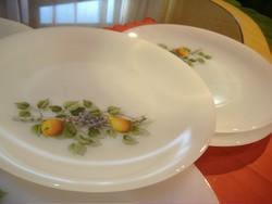 Hat darabos lapos tányérok. Jelzettek! jénai arcopal tányér, tejüveg