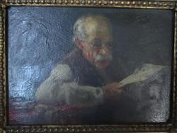 Horváth G.Andor életkép (1935) - olajfestmény