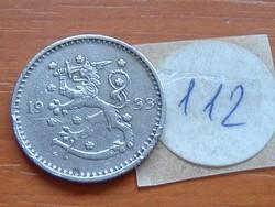 FINNORSZÁG 1 MÁRKA MARKKA 1933 S 112.