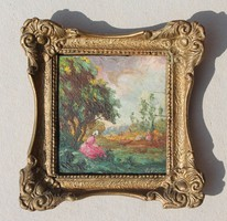 Magyar festő: Romantikus jelenet