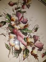 Árvácskás,fajanszbetétes tálca-28,5 cm