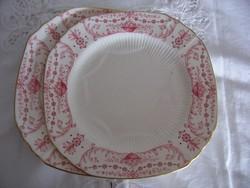 Antik angol porcelánfajansz Adderleys (WAA&Co) süteményes tányérok, 2 db.