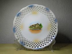 Pöstyén porcelán emlék tányér Thermia Palace hibátlan állapotban!