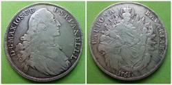 Ezüst bajor tallér 1765