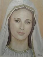 Szűz Mária portré olaj festmény