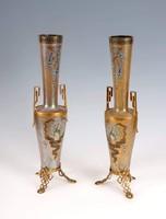 Loetz váza pár páva mintával