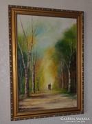 Szegedi kortárs festő műve: A remény útja