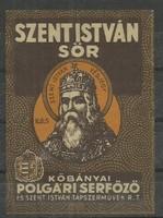 Szent István sör címke