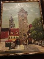 Olaj,vászon festmény Ottilie