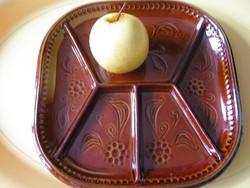 Fajansz osztott tál, tányér