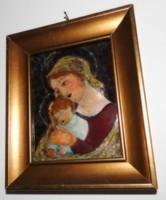 Nagy Gy. Margit : Madonna - tűzzománc kép