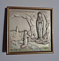 Ezüst vallási kis asztali kép