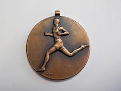 Bronz sport jelvény , jelzett : Ivan