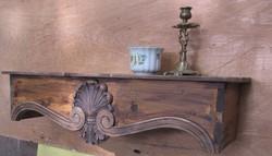 Barokk stílusú faragott falikonzol 19.000 Ft
