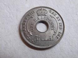 KK32 1936 Angol Nyugat Afrika fél penny