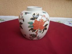 Angol rózsás,paradícsom madaras gyönyrű antik kaspó,váza. Leárazva!