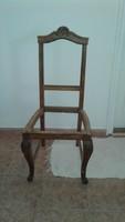 Faragott szék keret.