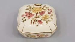 Zsolnay pillangós nagy bonbonier, doboz